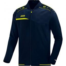 JAKO мужская клубная куртка Престиж морской-лимон
