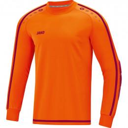 JAKO Kids TW Jersey Striker 2.0 неоновый оранжево-бордовый