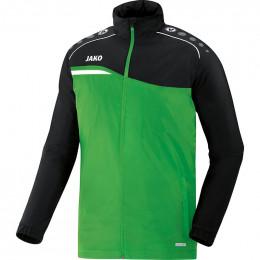 JAKO Kids Всепогодная Куртка Конкурс 2.0 мягкая зелено-черная