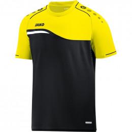 JAKO Kids T-Shirt Competition 2.0 черно-неоновый желтый