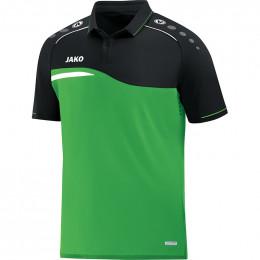 JAKO Kids Polo Competition 2.0 мягкая зелено-черная