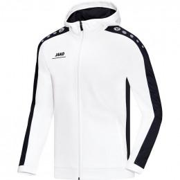 JAKO Kids куртка с капюшоном Striker бело-черный