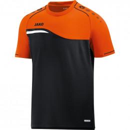 JAKO Kids T-Shirt Competition 2.0 черно-неоновый оранжевый
