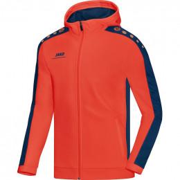 JAKO Kids куртка с капюшоном Striker пламя ночной синий