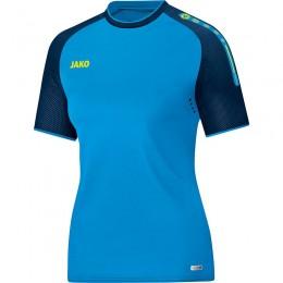 JAKO Ladies Футболка Champ JAKO сине-темно-неоновый желтый