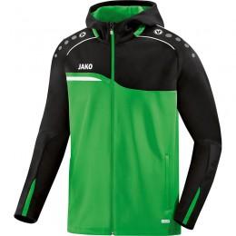 JAKO Ladies Куртка с капюшоном Competition 2.0 мягкая зелено-черная