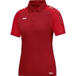 JAKO Ladies Polo Champ темно-красный-красный