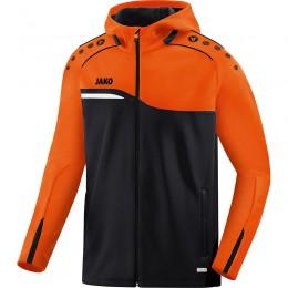 JAKO Ladies Куртка с капюшоном 2.0 черный неоновый оранжевый