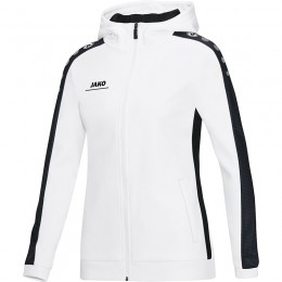 JAKO Ladies Куртка с капюшоном Striker бело-черный