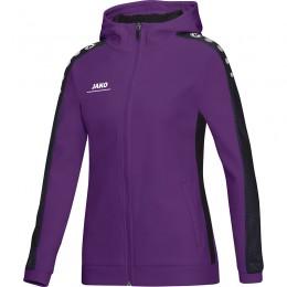 JAKO Ladies Куртка с капюшоном Striker пурпурно-черный