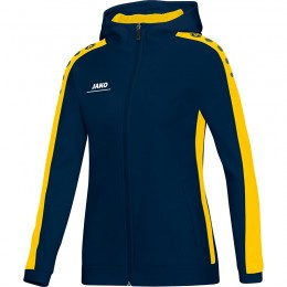 JAKO Ladies Куртка с капюшоном Striker темно-желтого цвета