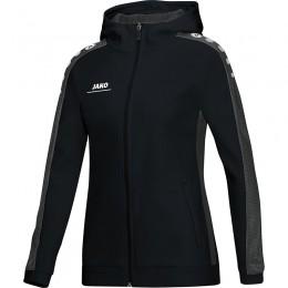 JAKO Ladies Куртка с капюшоном Striker черно-серый