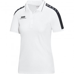 JAKO Ladies Polo Striker бело-черный