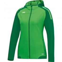 JAKO Ladies Hooded Jacket Champ мягкий зеленый-зеленый