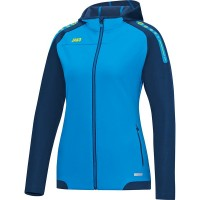 JAKO Ladies Hooded Jacket Champ JAKO сине-темно-неоновый желтый