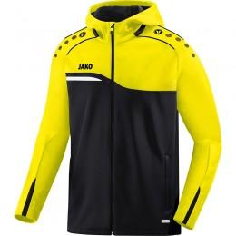 JAKO Ladies Hooded Jacket Competition 2.0 черный-неоновый желтый