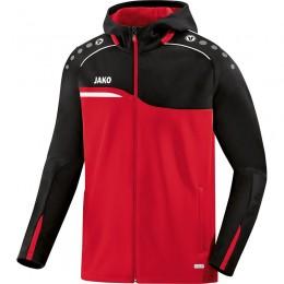 JAKO Ladies Hooded Jacket Competition 2.0 red-black
