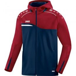 JAKO Ladies Hooded Jacket Competition 2.0 темно-красный