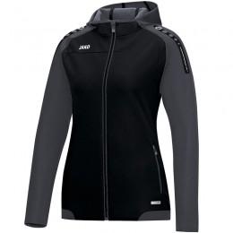 JAKO Ladies Hooded Jacket Champ черно-антрацит