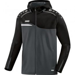 JAKO Ladies Hooded Jacket Competition 2.0 антрацит-черный