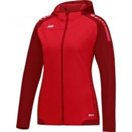 JAKO Ladies Hooded Jacket Champ красный-темно-красный