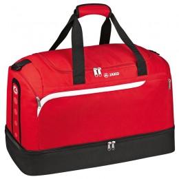 Производительность спортивной сумки JAKO с нижним отсеком красно-бело-черная