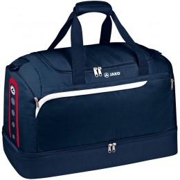 Производительность спортивной сумки JAKO с нижним отделением темно-бело-красного цвета