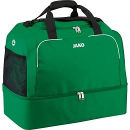 Спортивная сумка JAKO Classico с нижним отделением спортивная зеленая